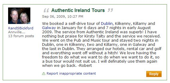 Read our tripadvisor reviews!