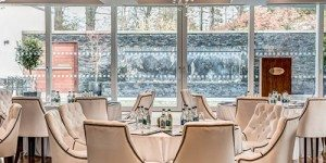 Dining tables in Galgorm Resort and Spa in Northern Ireland