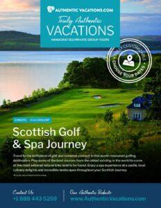 Scottish Golf & Spa Journey – Private Group Tour